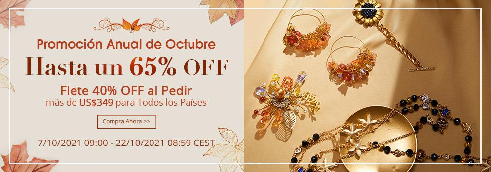 Promoción Anual de Octubre Hasta un 65% off 7/10/2021 09:00 - 22/10/2021 08:59 CEST