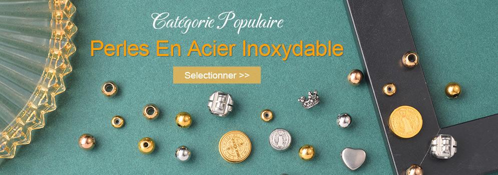 Catégorie Populaire Perles En Acier Inoxydable Selectionner >>