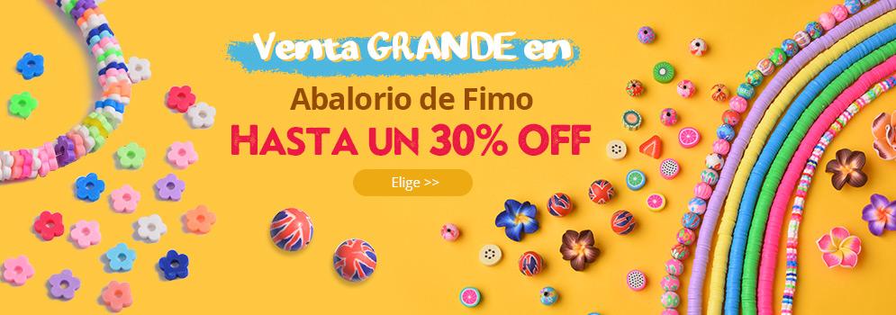 Hasta un 30% OFF Venta GRANDE en Abalorio de Fimo Elige >>