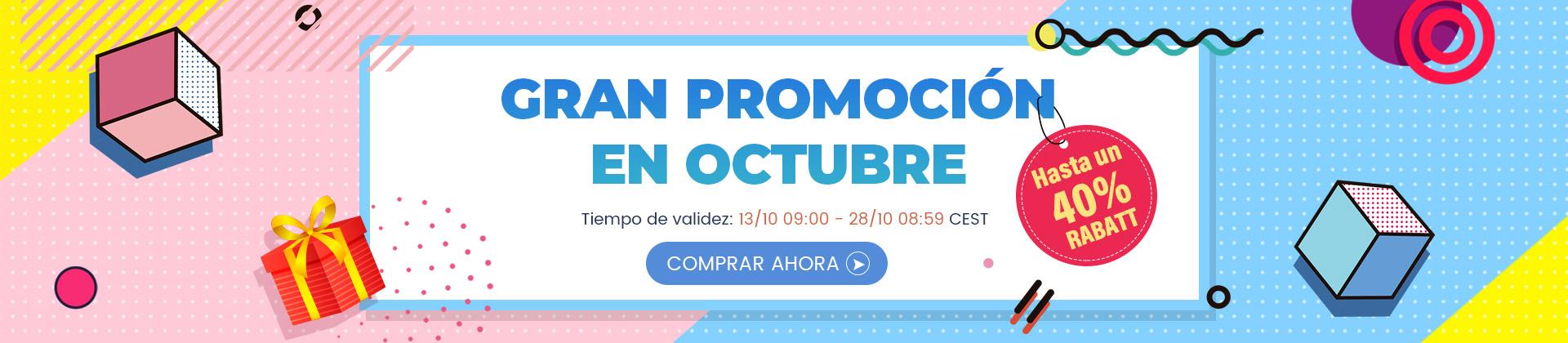 Gran promoción en octubre