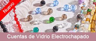 Cuentas de Vidrio Electrochapado