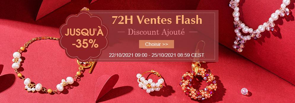 72H Ventes Flash Discount Ajouté Jusqu'à -35% 22/10/2021 09:00 - 25/10/2021 08:59 CEST
